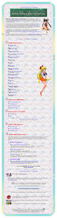 AniMe Song Lyrics HomePage