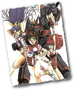 Noriko and gang with Gunbuster